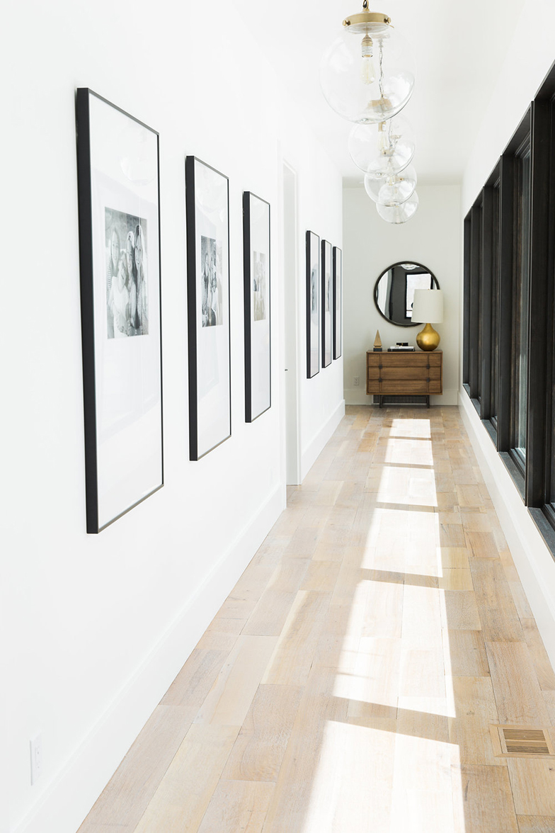 Statement art hallway styling