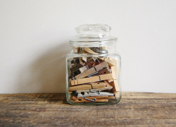 Storage and display clothespins