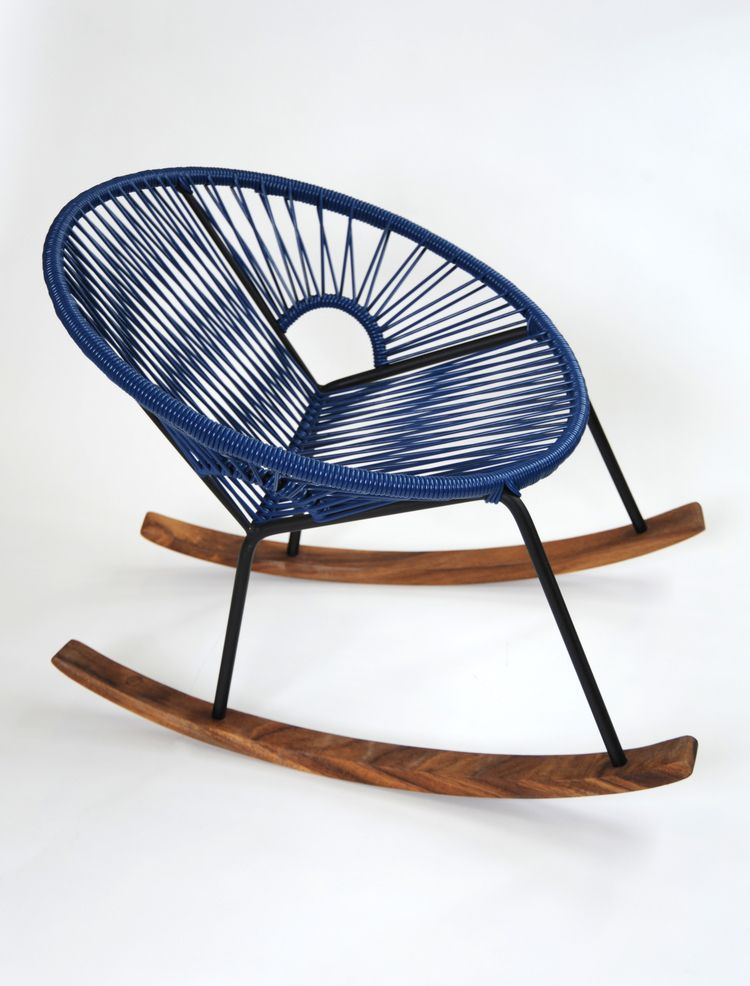 Big rockers can be difficult or dangerous for small children but this one is just their size! The Ixtapa rocker is made with a steel frame, PVC Cord, and wood.