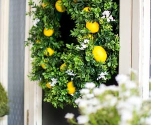 Beau 15 DIY Wreaths To Decorate Your Front Door This Summer