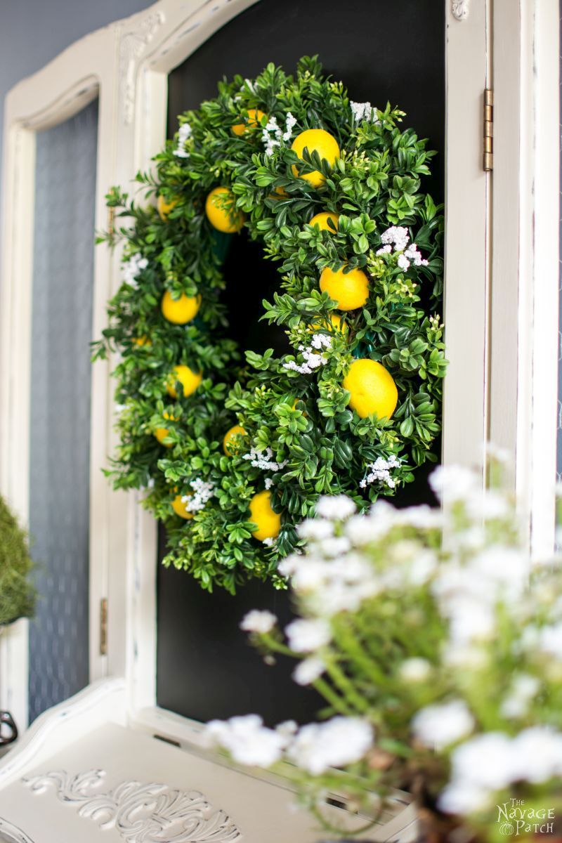 Summer faux lemon wreath