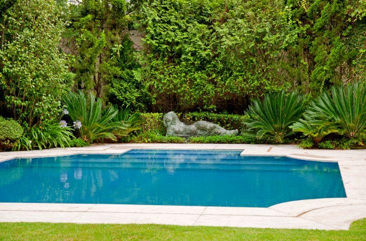 Swimming pool large statue