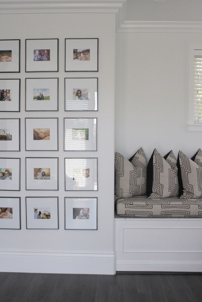 Symmetrical photo wall