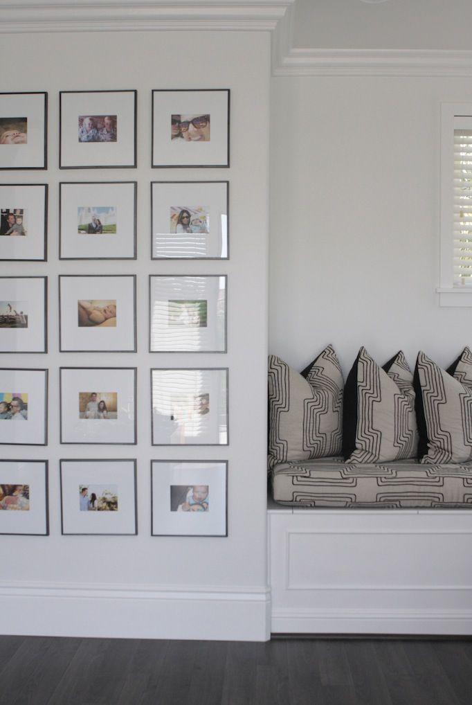 Symmetrical photo wall