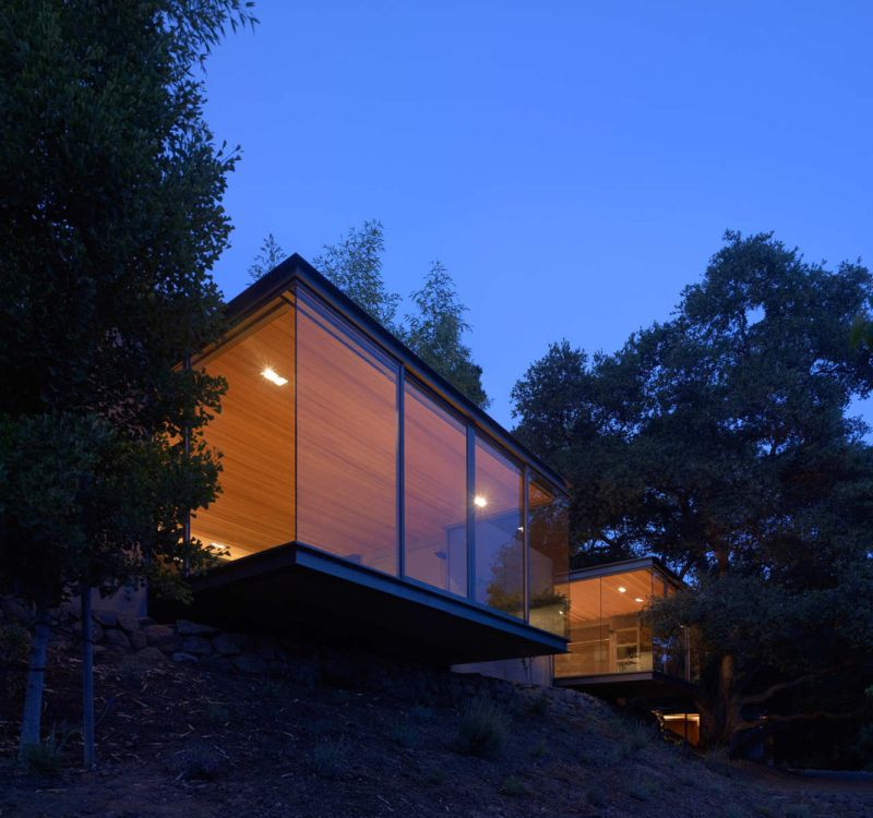 Tea house design from swatt miers architects night