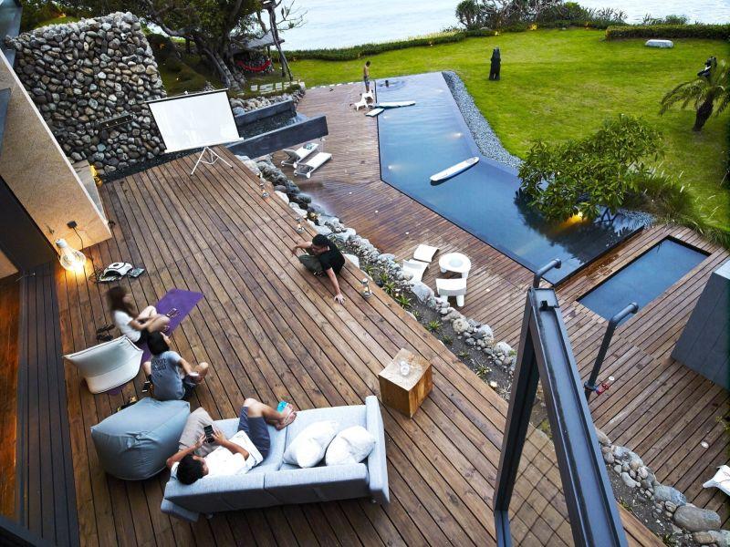 Tea house terrace