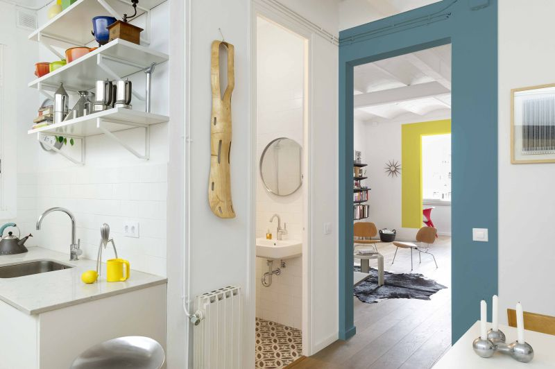 The Furnished Void bahroom door