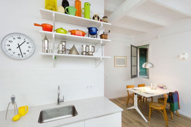 The Furnished Void kitchen shelves