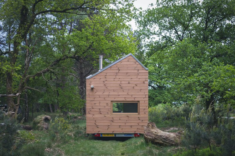 Tiny house in The Netherlands back facade