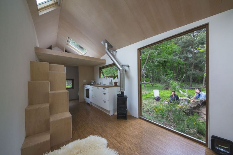 Tiny house in The Netherlands large window and view