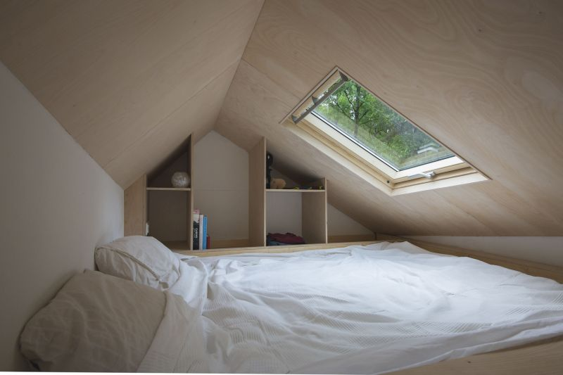 Tiny house in The Netherlands loft bedroom