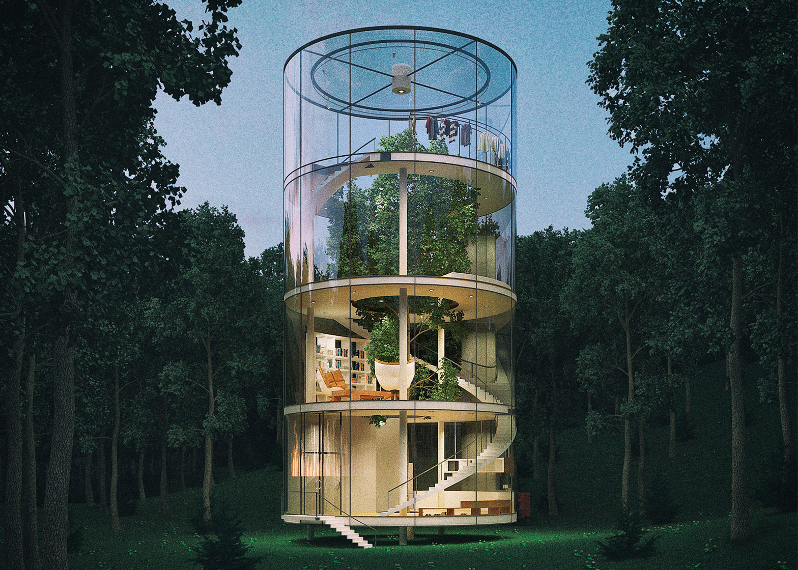 Tubular tree house