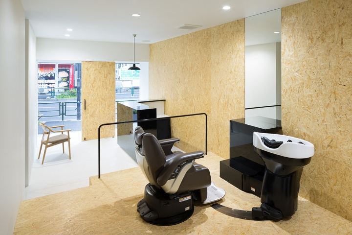 Udagawa barber shop in Tokyo Counter Chair