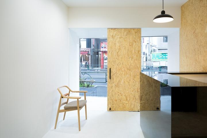 Udagawa barber shop in Tokyo Plywood
