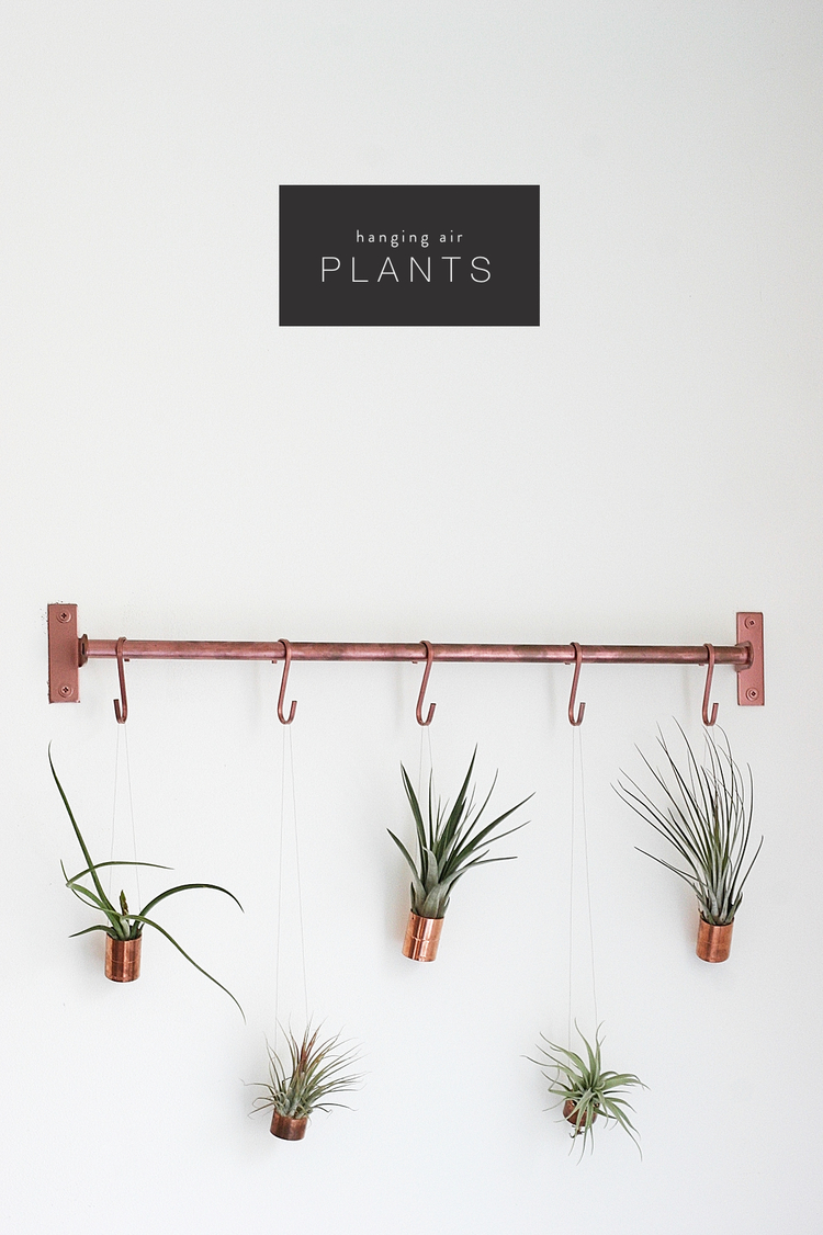 Urban copper hanging pots