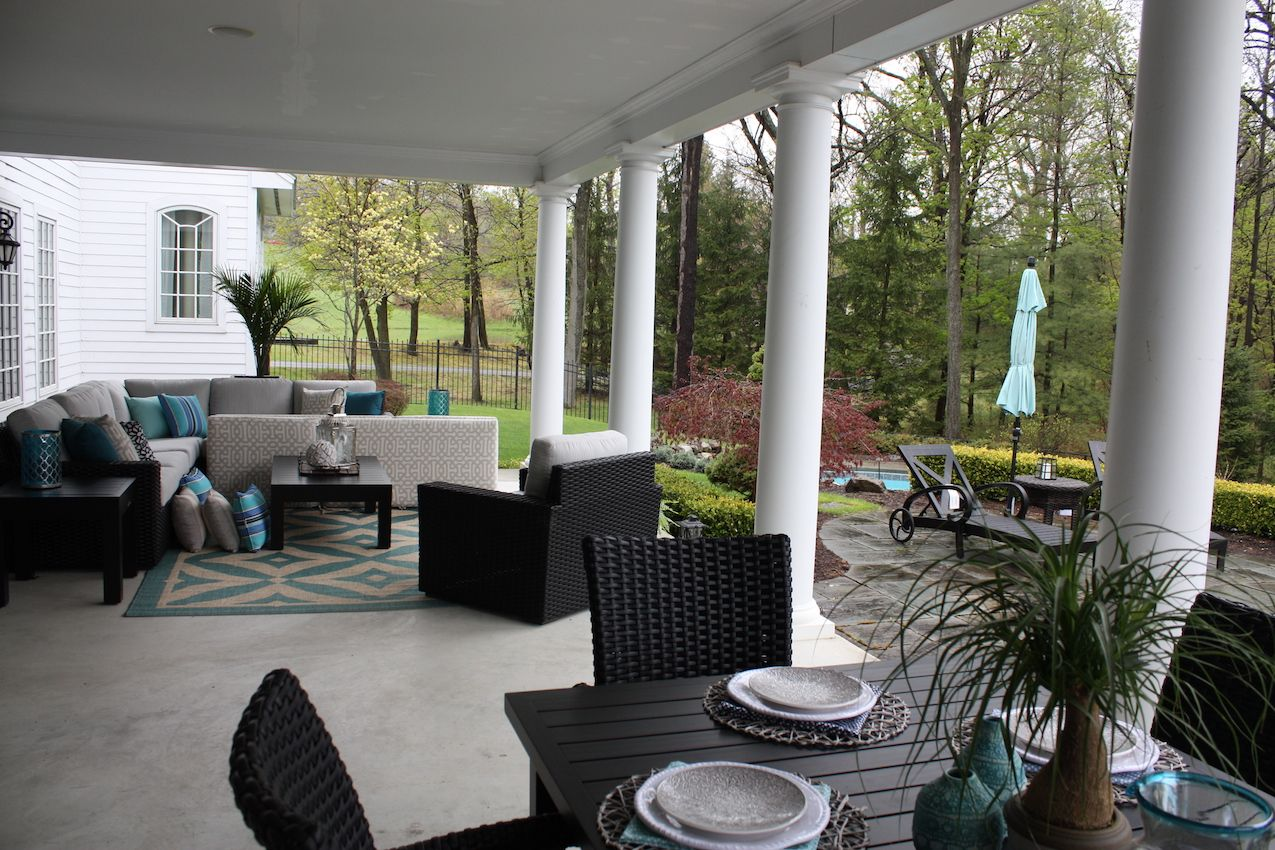 A glamorous home would not be complete without expansive and elegant outdoor space and this home has plenty! The covered veranda off the kitchen living area and great room offers lots of square footage for all-weather entertaining.