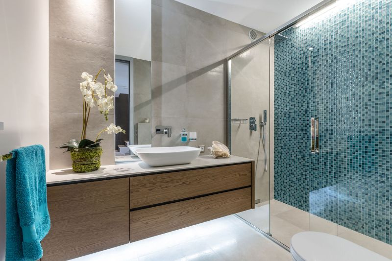 Villa in Bordighera bathroom mosaic wall