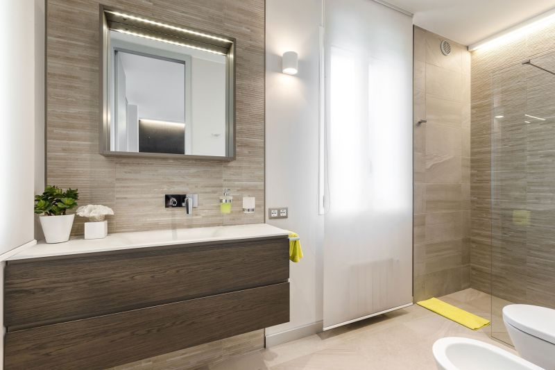 Villa in Bordighera bathroom wood accents