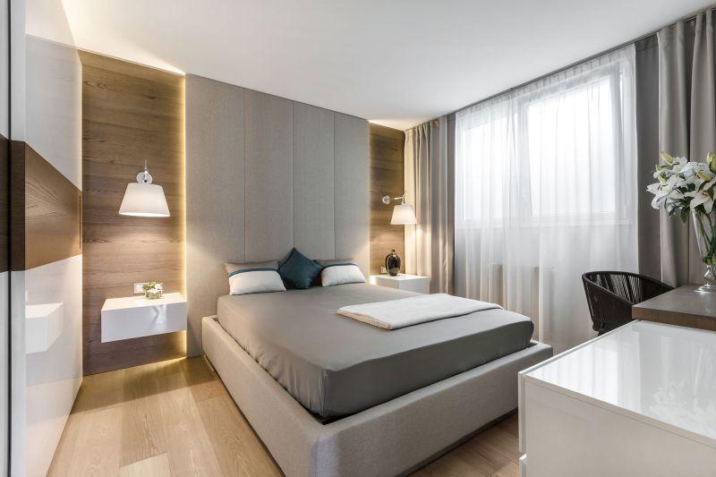 Villa in Bordighera bedroom lighting