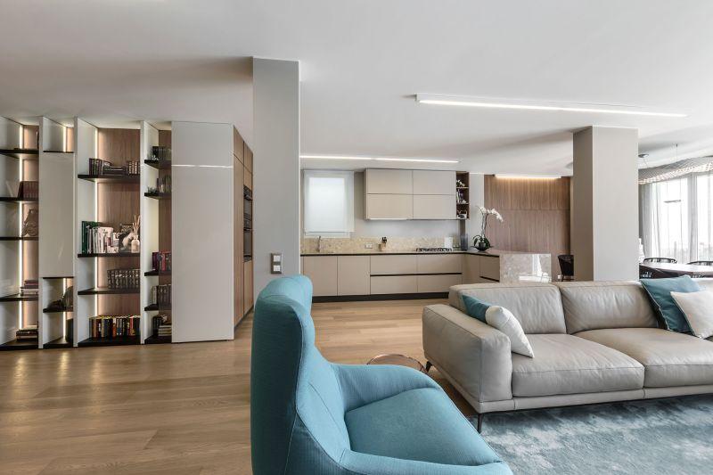 Villa in Bordighera living room and kitchen