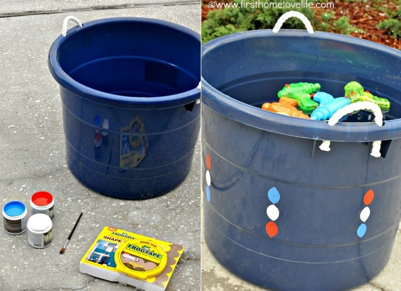 Water bucket playful for kids