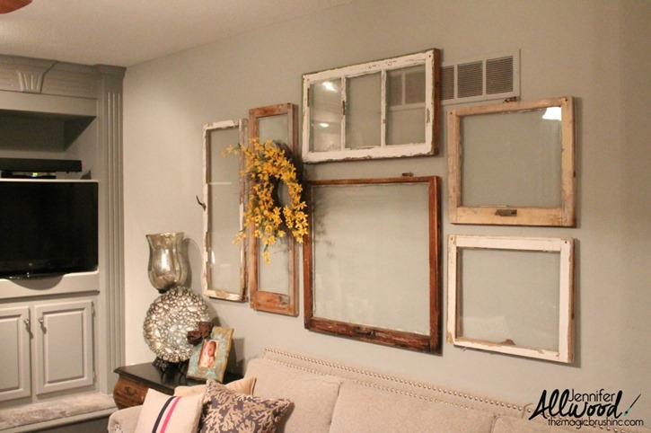 Window frames gallery wall