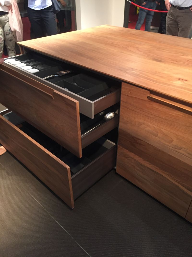 Wood brown kitchen island