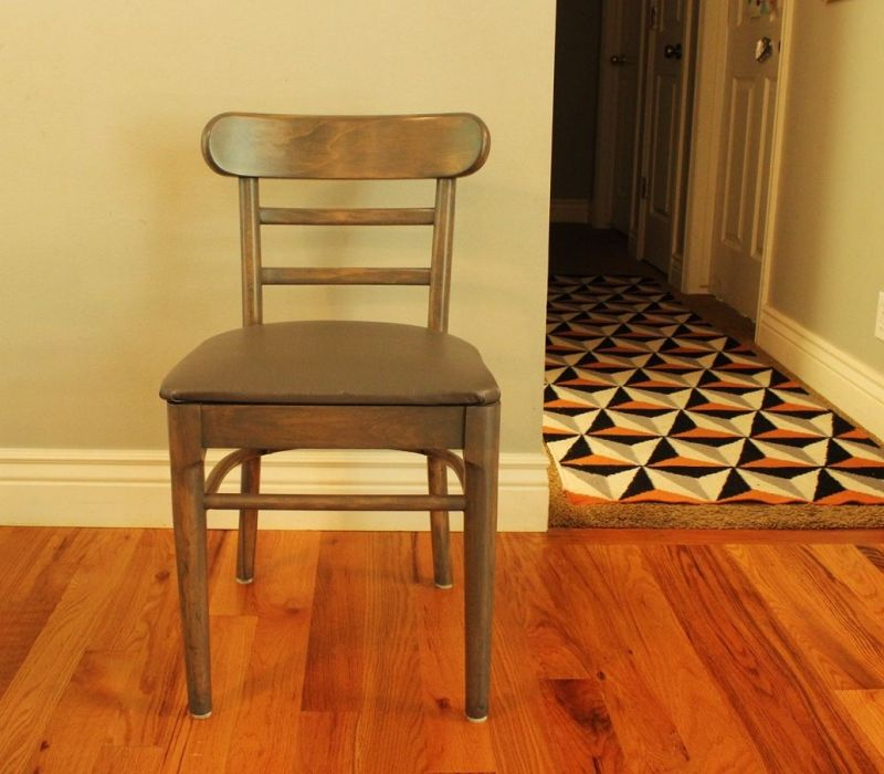 Wooden Dining Chair after Refenish