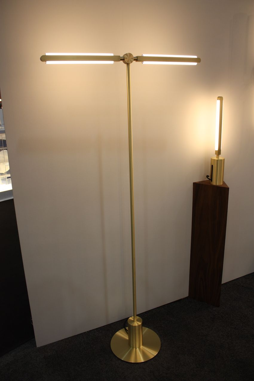 Withtwo or more linear arms projecting from a base, the fixture takes on a different look. The arms have built-in diffusers that give off a warm LED light.