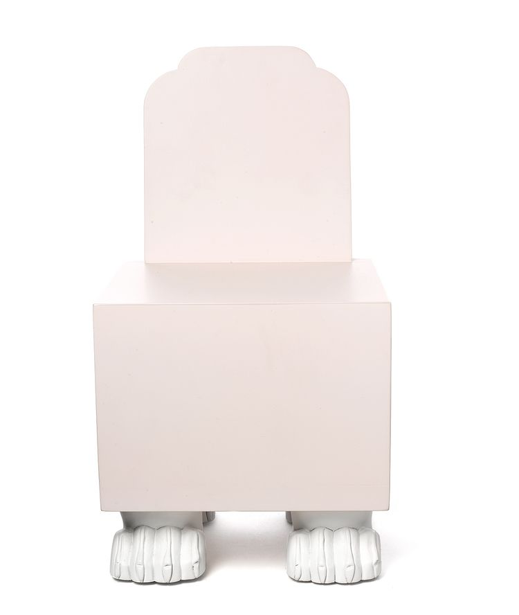 Your kids will certainly feel special sitting in this Queen Chair by Matthew Sullivan for Kinder Modern. The unique footed chair os made from lacquered MDF with painted maple feet. There's also a companion chair for your little king as well.