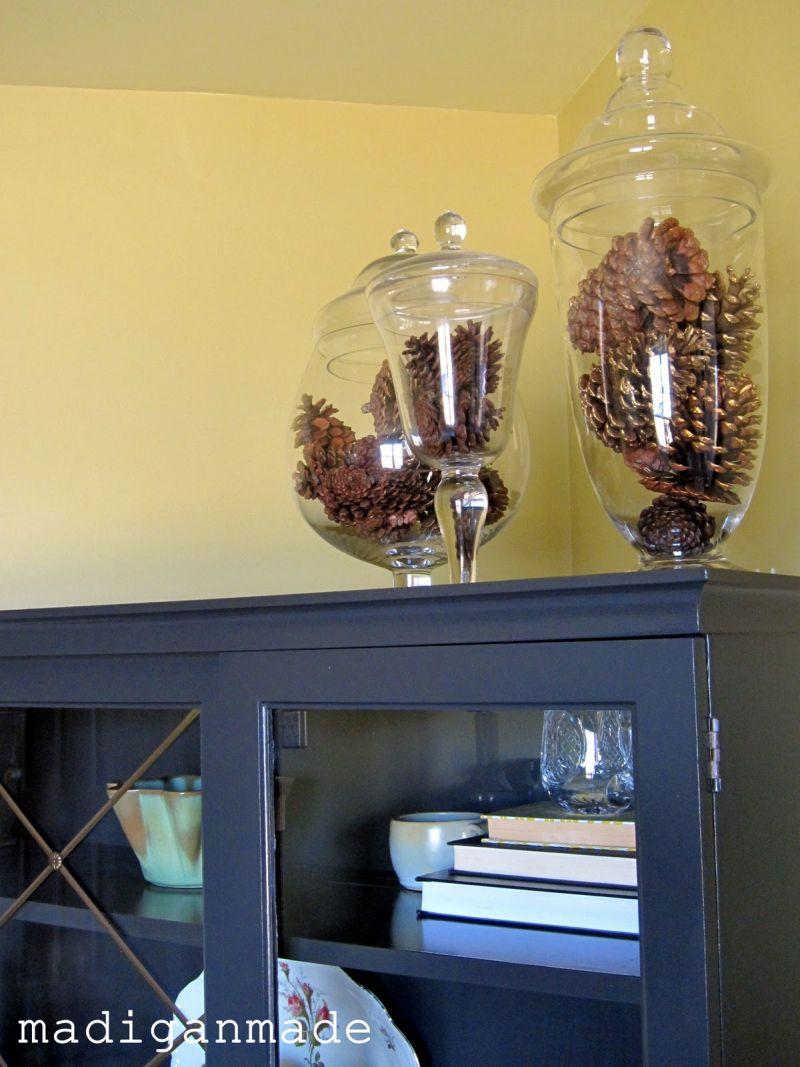 pinecone apothecary jar filler