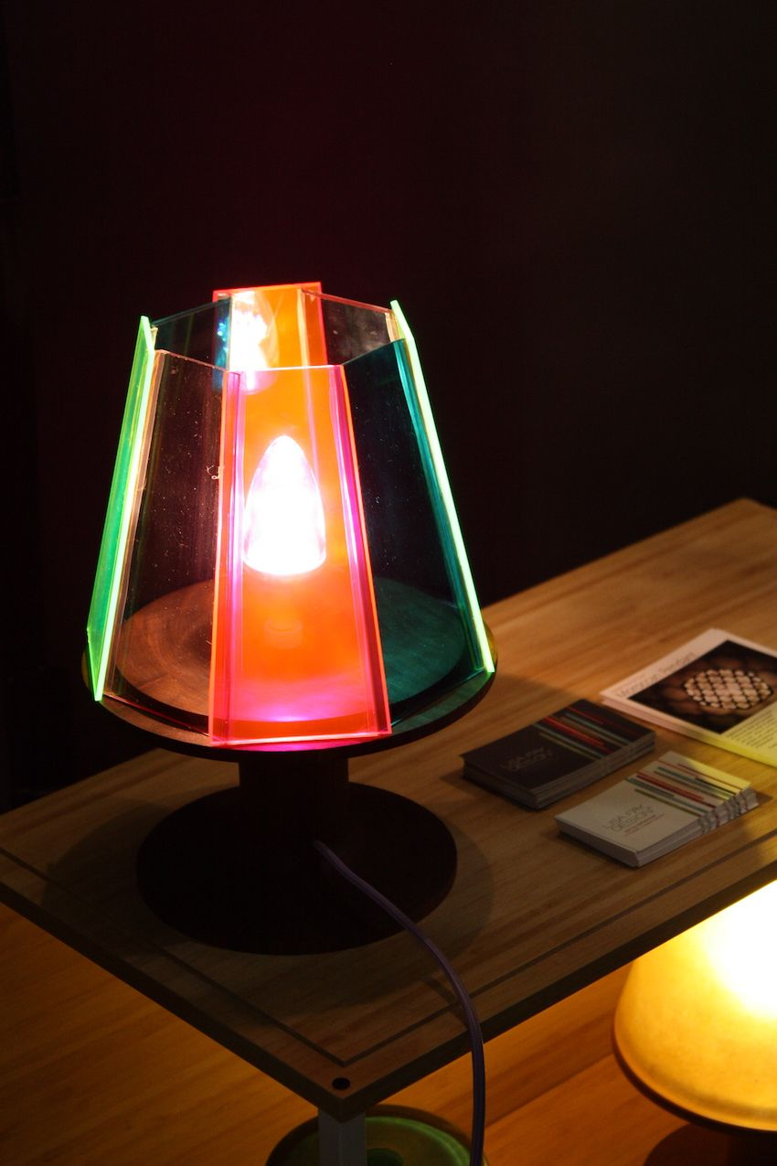 The Bright Colors Of The Small Table Lamp From Lisa Fay Design Are So Eye  Catching