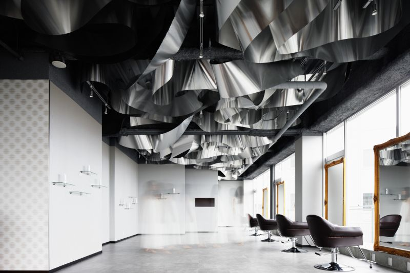 ARKHE Beauty Salon with an impressive ceiling accent