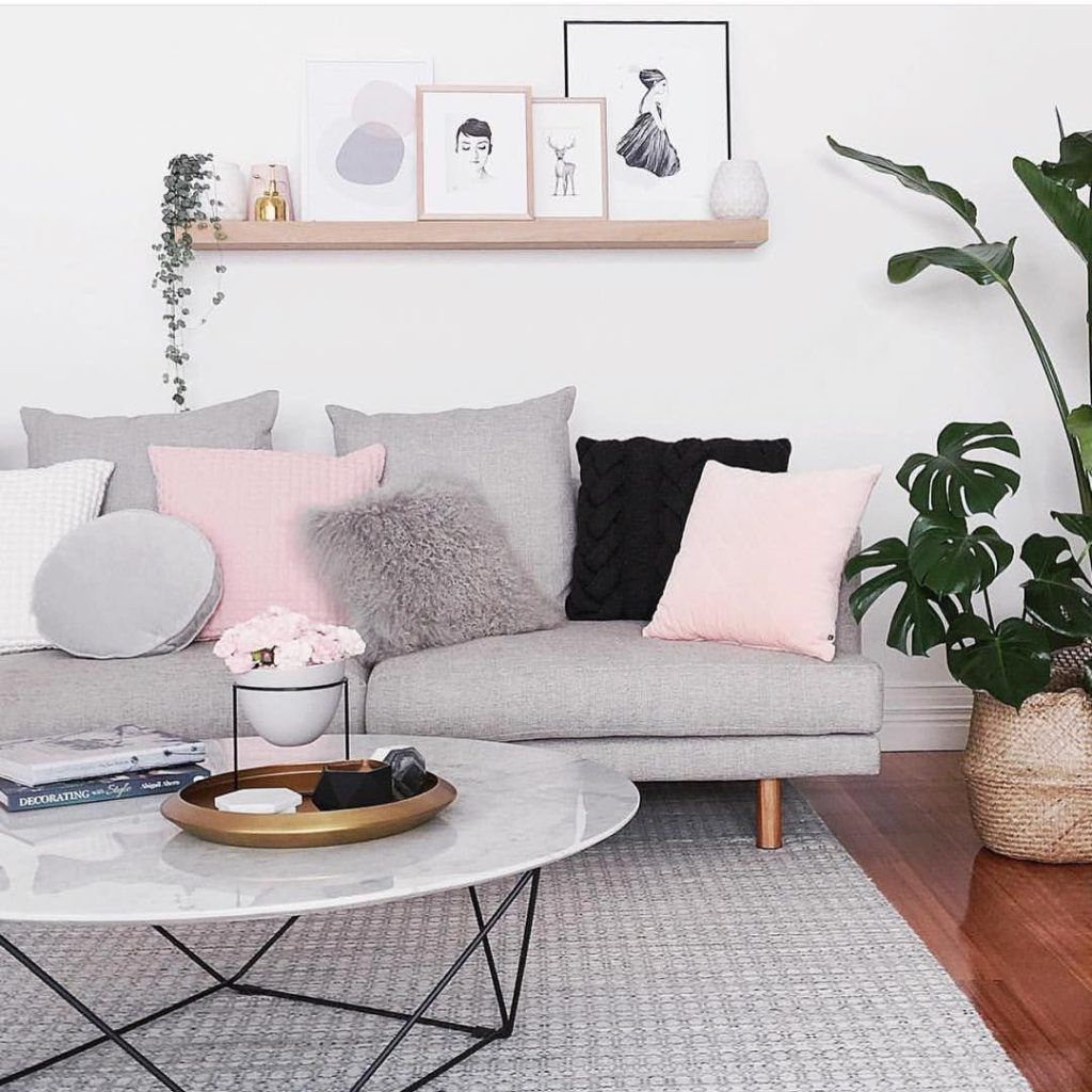 10 tips for the best scandinavian living room decor - Coussin gris maison du monde ...