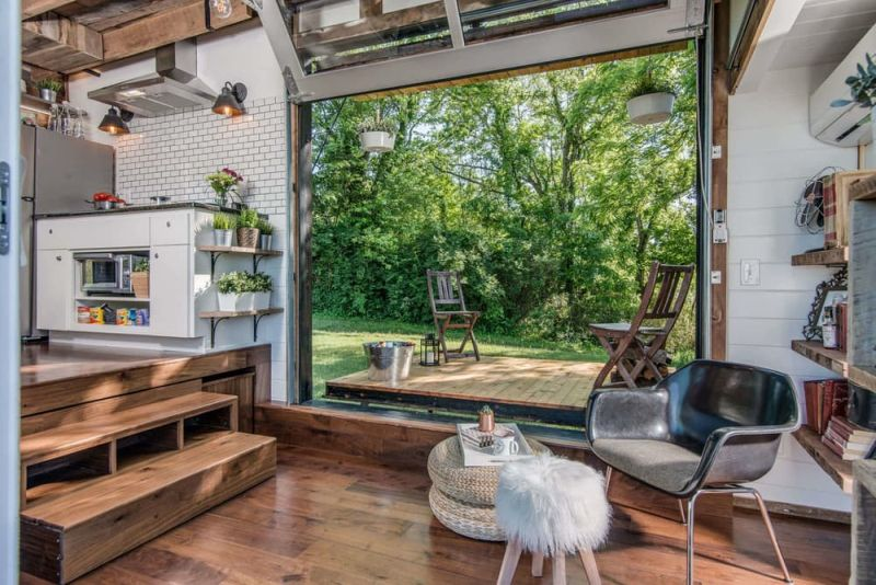 Alpha Tiny House Central Space And Porch