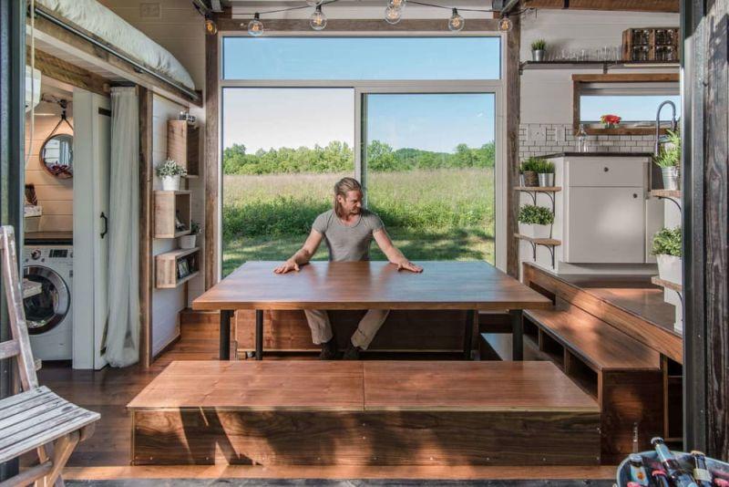 Alpha Tiny House dining area