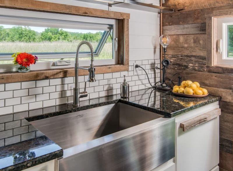 Alpha Tiny House kitchen sink