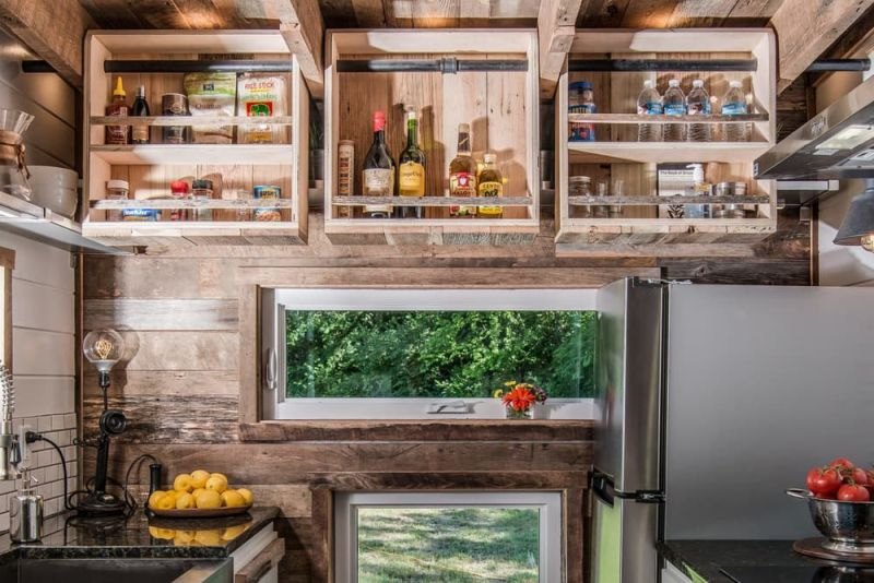 Alpha Tiny House Kitchen Storage Crates