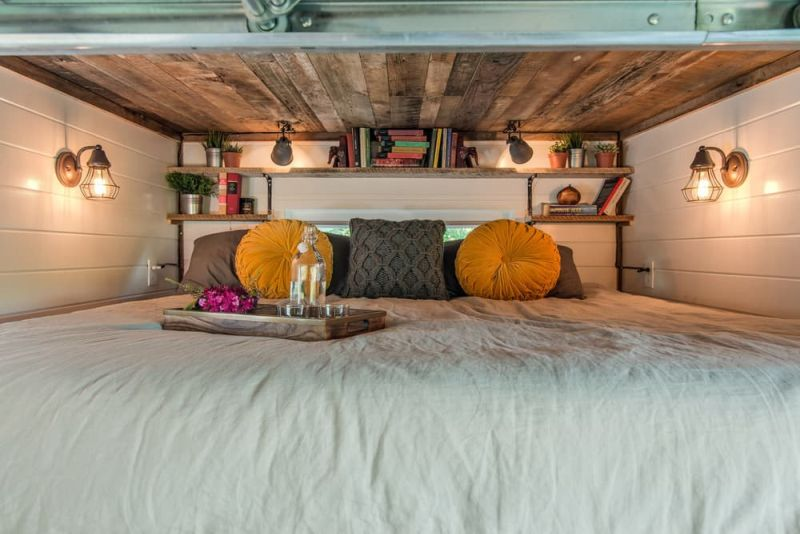 Alpha Tiny House sleeping area