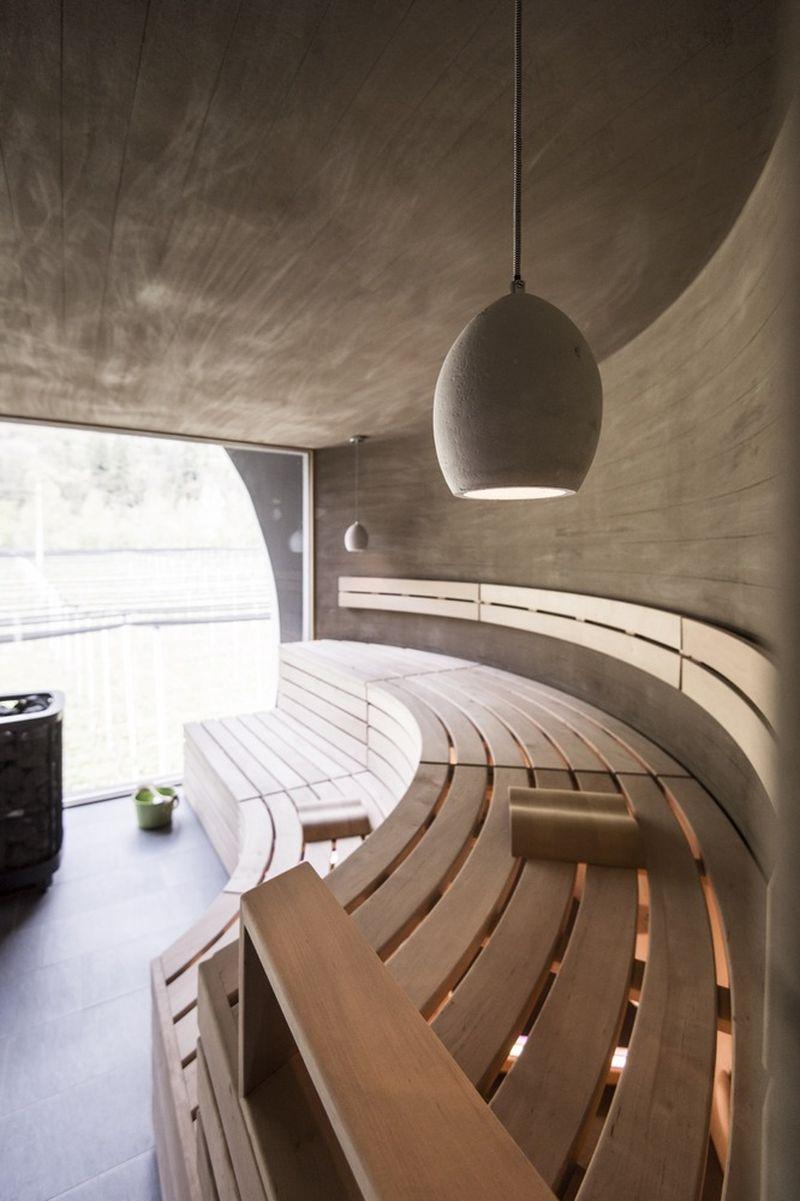 Applesauna interior benches