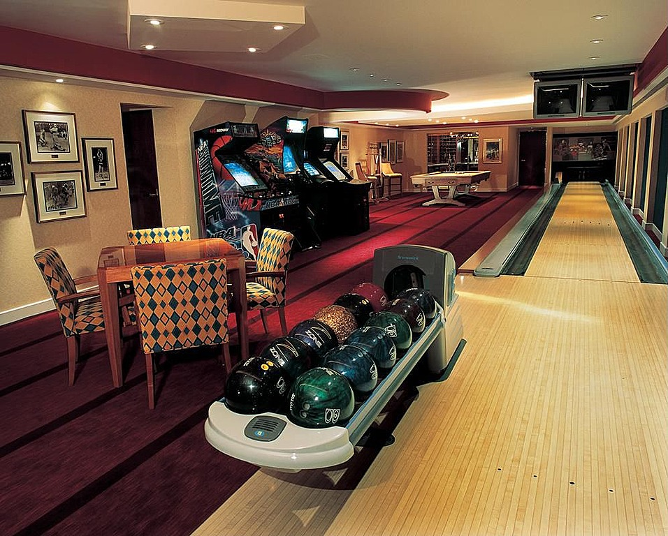Basement bowling alley