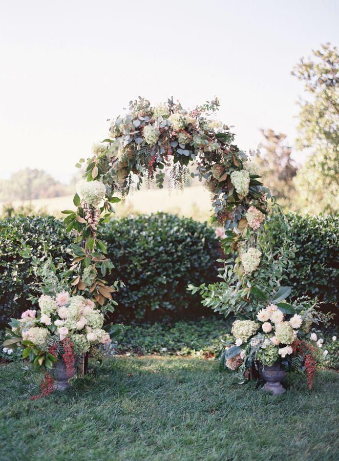 Beautiful wedding floral arch