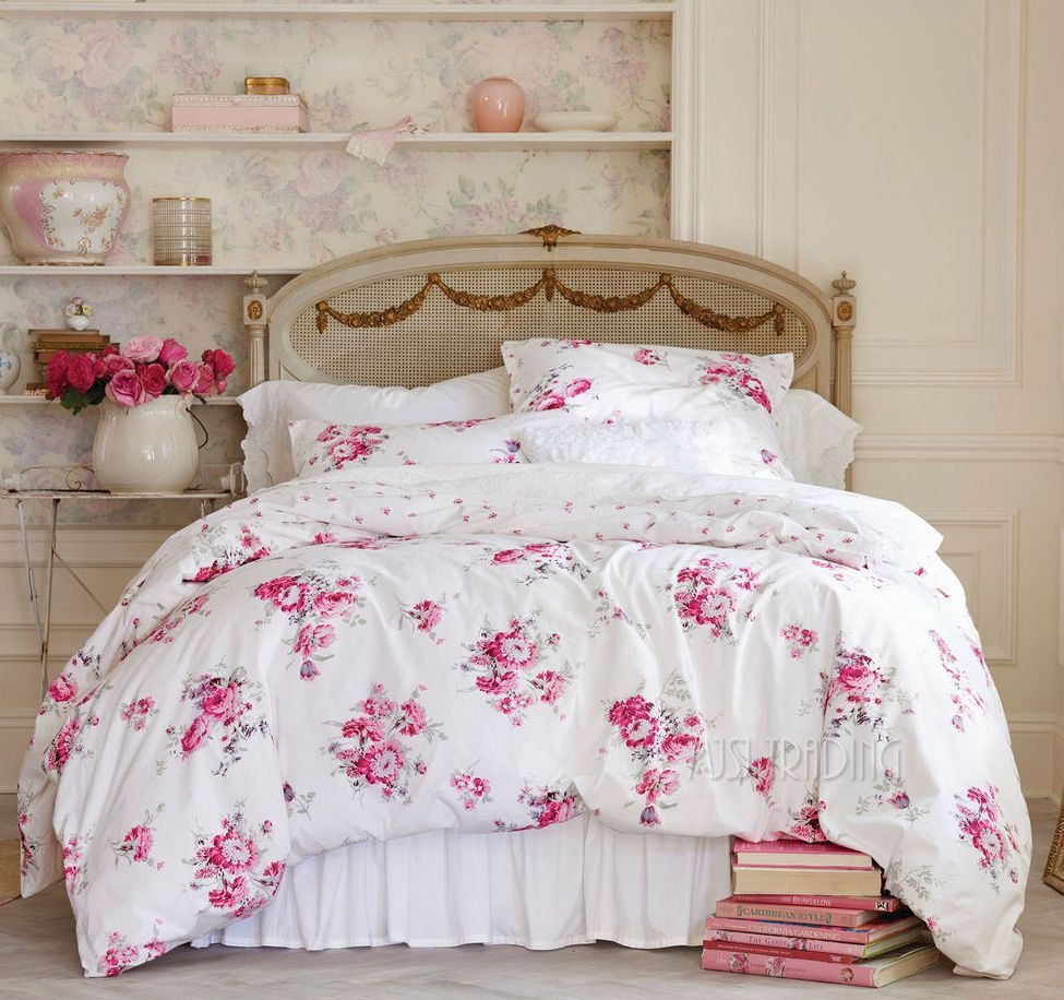 15 best picks for shabby chic bedding for Lampe style shabby chic