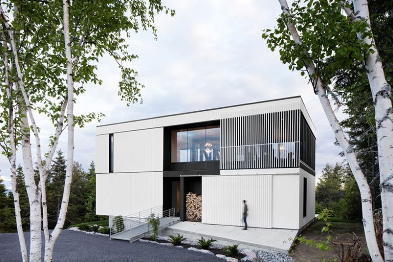 Blanche Chalet white facade