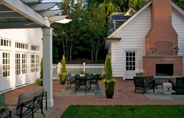 Bricks for backyard and fireplace