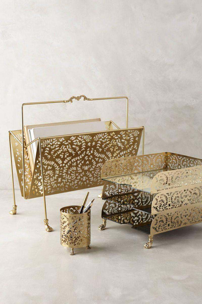 Casimira Gold Desk Accessories