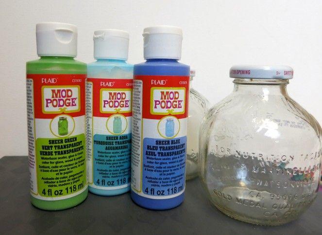 Coastal Themed Glass Bottle Decor Supplies