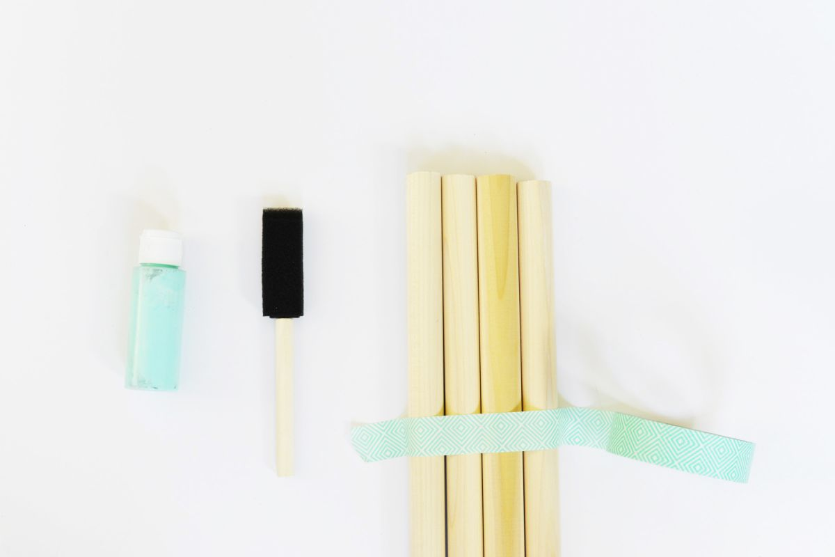 Coat rack paint tape
