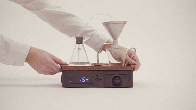 Coffee and tea alarm clock