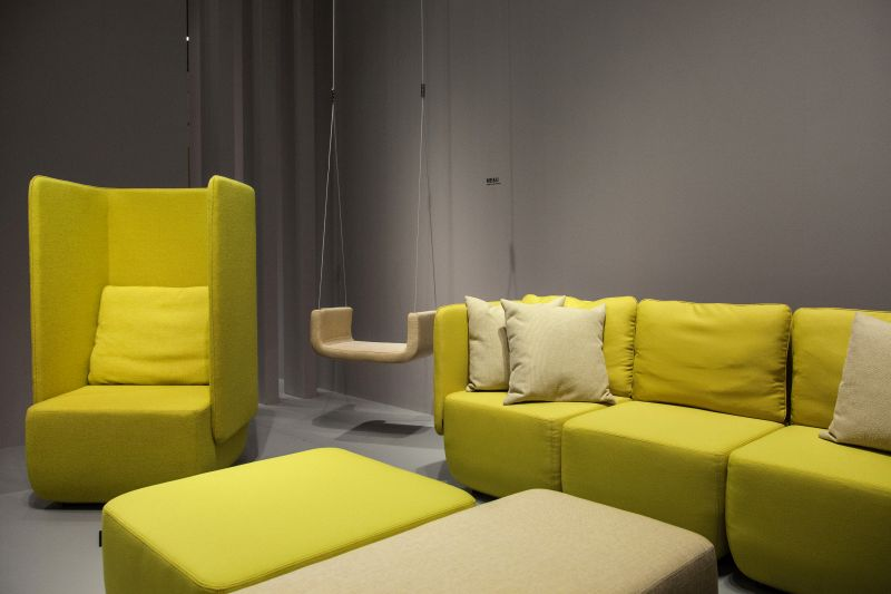 Captivating Collection Of Chartreuse Furniture   Privacy Chair And Sofa